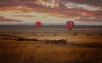 Hot air balloon in Kenya